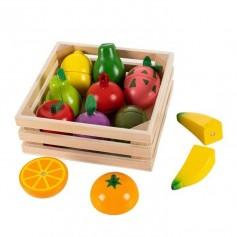Pjaustomų vaisių rinkinys dėžutėje Multi