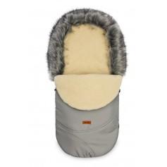 Žieminis vilnonis vokelis vežimėliui Eskimo Grey