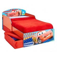 Vaikiška medinė lova Cars su stalčiais