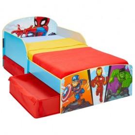 Vaikiška lova Superherojai su stalčiais