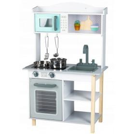 Daugiafunkcinė medinė vaikiška virtuvėlė