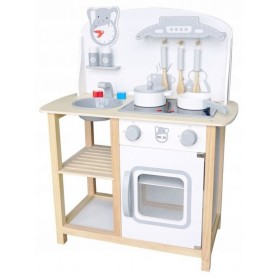 Medinė vaikiška virtuvėlė su garsais