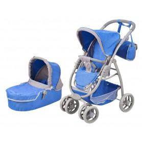 Lėlės vežimėlis Belly 2in1 Blue Pastel