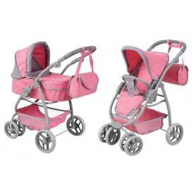 Lėlės vežimėlis Belly 2in1 Pink Pastel