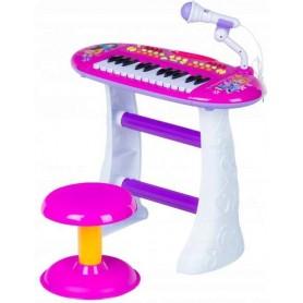 Vaikiškas pianinas su kėdute MultiPink