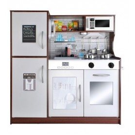 Medinė virtuvėlė su šaldytuvu Chestnut