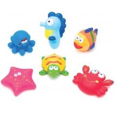 Purškiantis vonios žaislai Jūros gyvūnai (6 vnt.)
