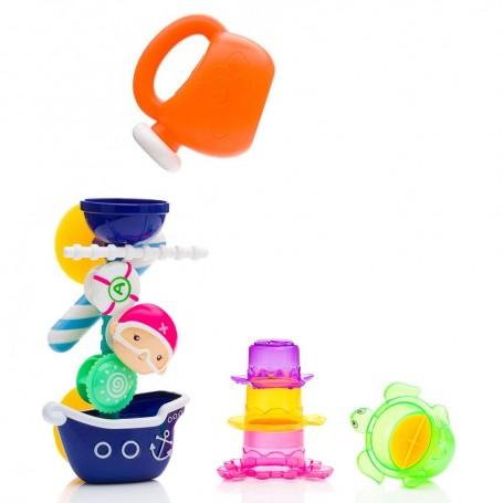 Vonios žaislas Piratų malūnas su indeliais