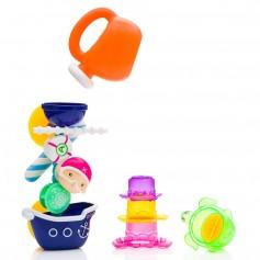 Vonios žaislas Vandens malūnas su indeliais