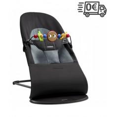 BabyBjorn gultukas Soft su žaisliuku (spalva - black/darkgrey)