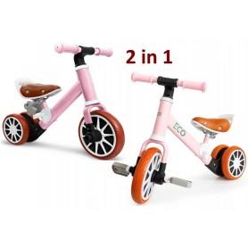 Balansinis dviratukas - paspirtukas su pedalais LuxuryPink
