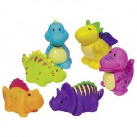 Goki purškiantis vonios žaislai Dinozaurai (6 vnt.)
