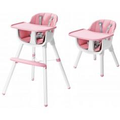 Maitinimo kėdutė Pink-White  2in1
