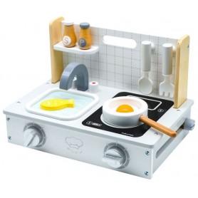 Medinė virtuvėlė Mini Compact + 7 priedai