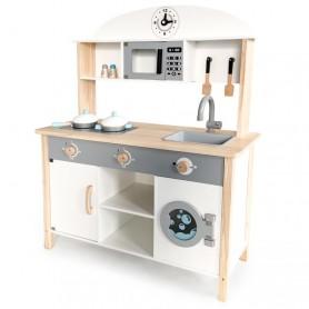 Medinė virtuvėlė su skalbimo mašina