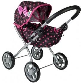 Lopšinis lėlės vežimėlis Pink Dots
