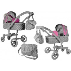 Vežimėlis lėlėms Banna 2in1 (spalva - pink grey)