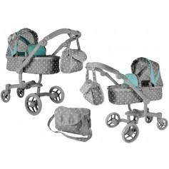 Vežimėlis lėlėms Banna 2in1 (spalva - grey)