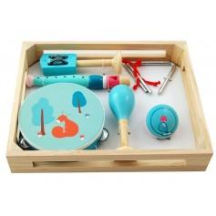Muzikos instrumentų rinkinys dėžutėjė