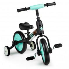Balansinis dviratukas su pedalais ir pagalbiniais ratukais 3in1