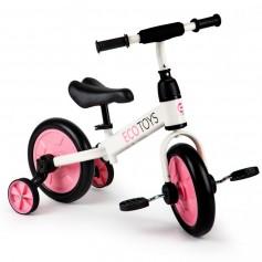 Balansinis dviratukas su pagalbiniais ratukais ir pedalais 3in1