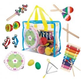Muzikos instrumentų rinkinys krepšelyje