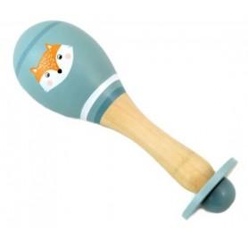 Medinis instrumentas - barškutis Marakasa Fox