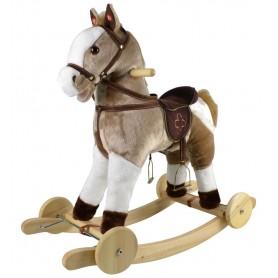Muzikinis supamas arkliukas Mustang su ratukais
