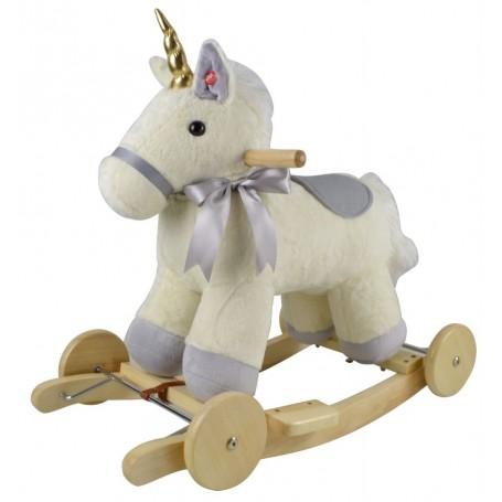 Muzikinis sūpamas Unicorn su ratukais