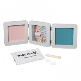 Baby Art trigubas rėmelis su įspaudais Pastel