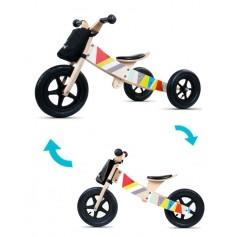 Medinis balansinis dviratukas Twist Classic 2in1