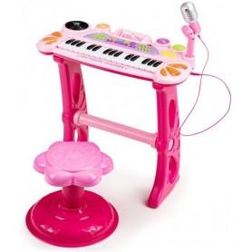 Vaikiškas pianinas su kedute MultiPink