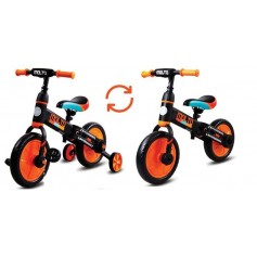 Molto dviratukas 3in1 su pagalbiniais ratukais ir pedalais