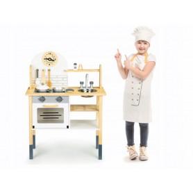 Medinė vaikiška virtuvėlė Natural + indai