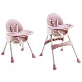 Maitinimo kėdutė 2in1 Azur Pink