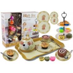 Arbatos rinkinys su pyragėliais ir stovu