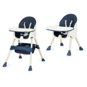 Maitinimo kėdutė 2in1 Azur Blue su daiktų krepšiu