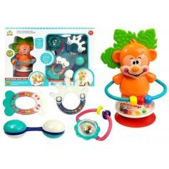 Barškučių ir kramtukų rinkinys Monkey