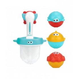 Akuku vonios žaislai su semtuvu/krepšeliu