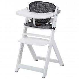 Medinė maitinimo kėdutė Timba su staliuku ir įdekliuku