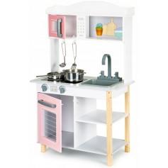 Daugiafunkcinė medinė vaikiška virtuvėlė Rose
