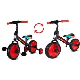 Molto Leggero dviratukas su pagalbiniais ratukais ir pedalais 3in1