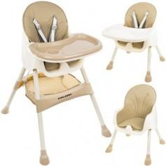 Maitinimo kėdutė 2in1 Kruz Beige su daiktų krepšiu
