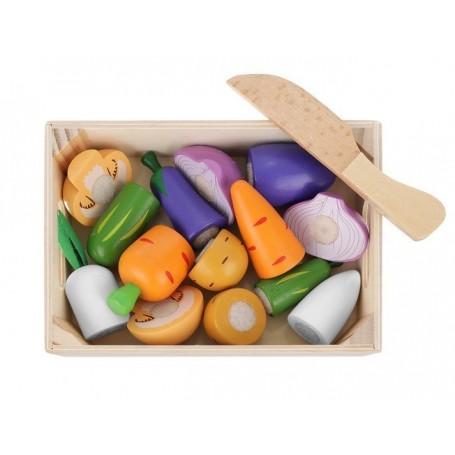 Pjaustomų daržovių rinkinys dėžutėje