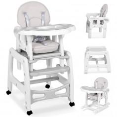 Maitinimo kėdutė-transformeris su lingėmis Grey Comfort