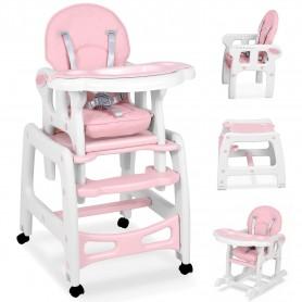 Maitinimo kėdutė-transformeris su lingėmis Pink Comfort