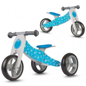 Medinis balansinis dviratukas Cosmo Blue 2in1