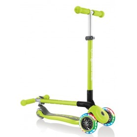 Paspirtukas Globber Primo Foldable Lights Lime Green