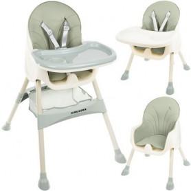 Maitinimo kėdutė 2in1 Kruz Green su daiktų krepšiu