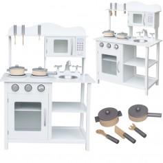 Medinė vaikiška virtuvėlė White 85 cm.